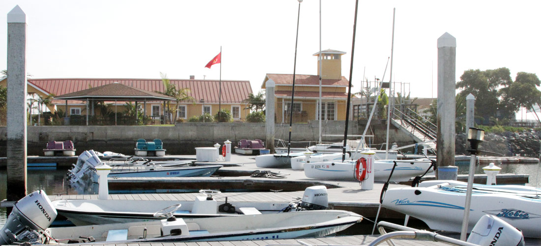 Image of the Bay View Boathouse and Marina.