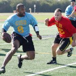 Images of Marines playing football.