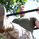 Marine doing a Pull-up.