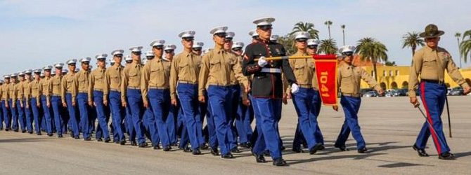 Marine Boot Camp Graduation pass and review.