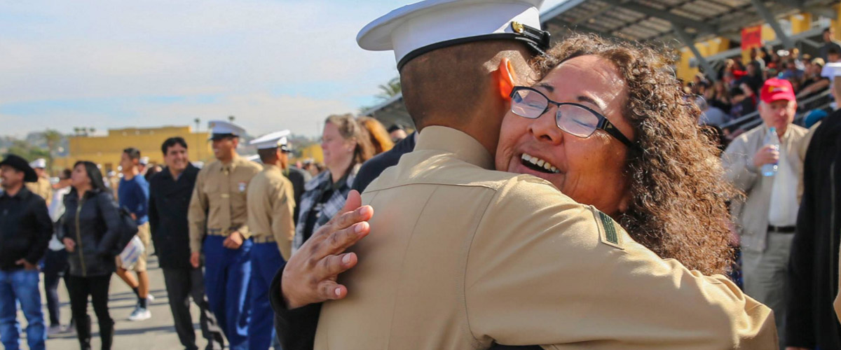 A New Marine and his New Marine Mom