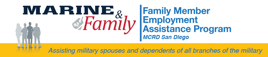 Family Member Employment Assistance Program, MCRD San Diego