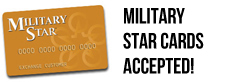 Military Star Cards Accepted!