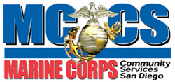 Marine Corps Community Services, MCRD San Diego Logo