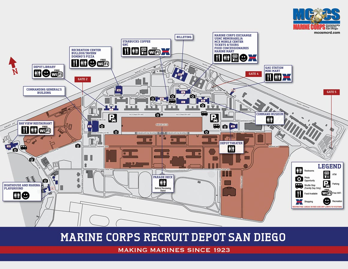 Mcrd San Diego Map Visitor Map   Marine Corps Community Services, MCRD San Diego