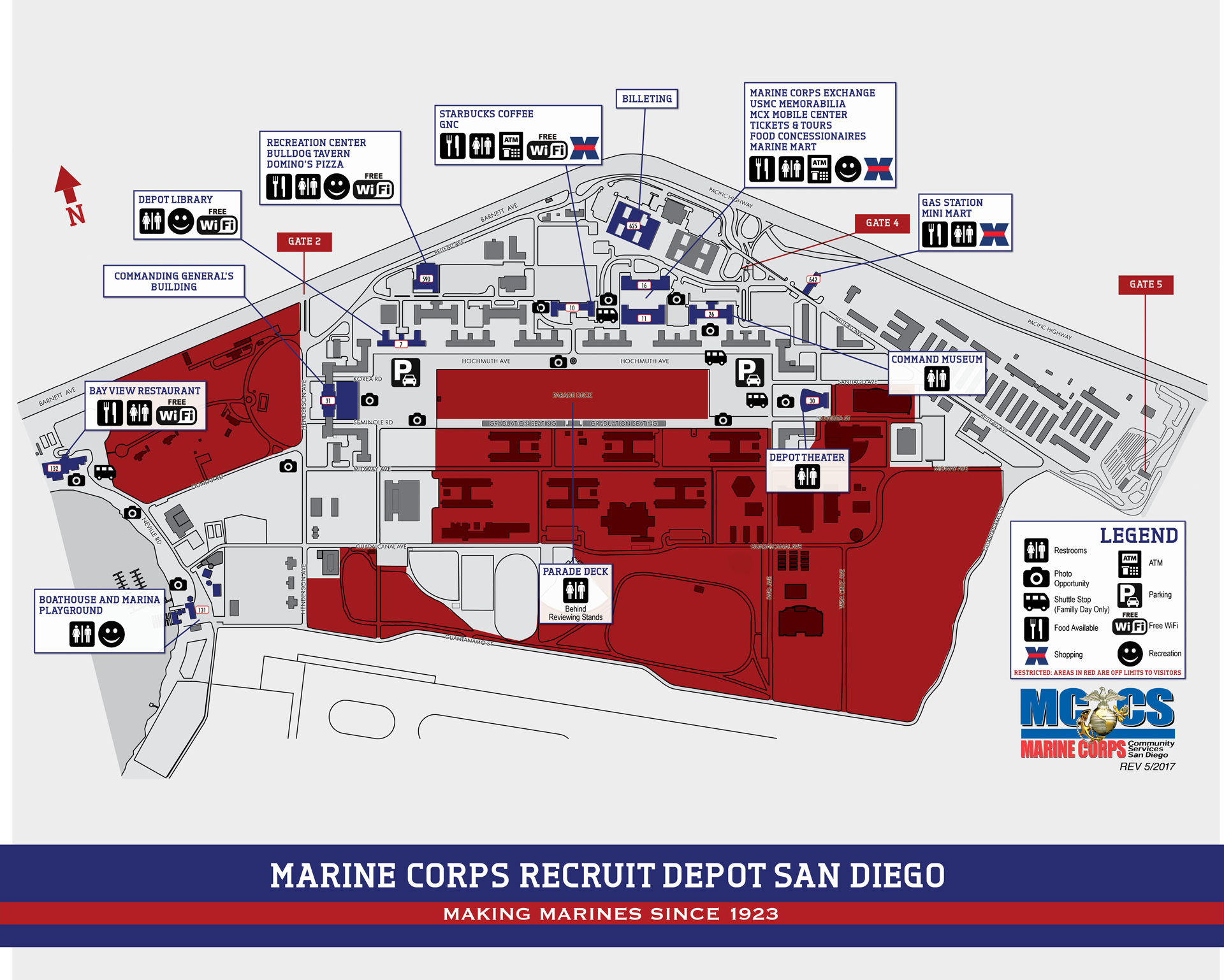 Base Map Marine Corps Community Services Mcrd San Diego