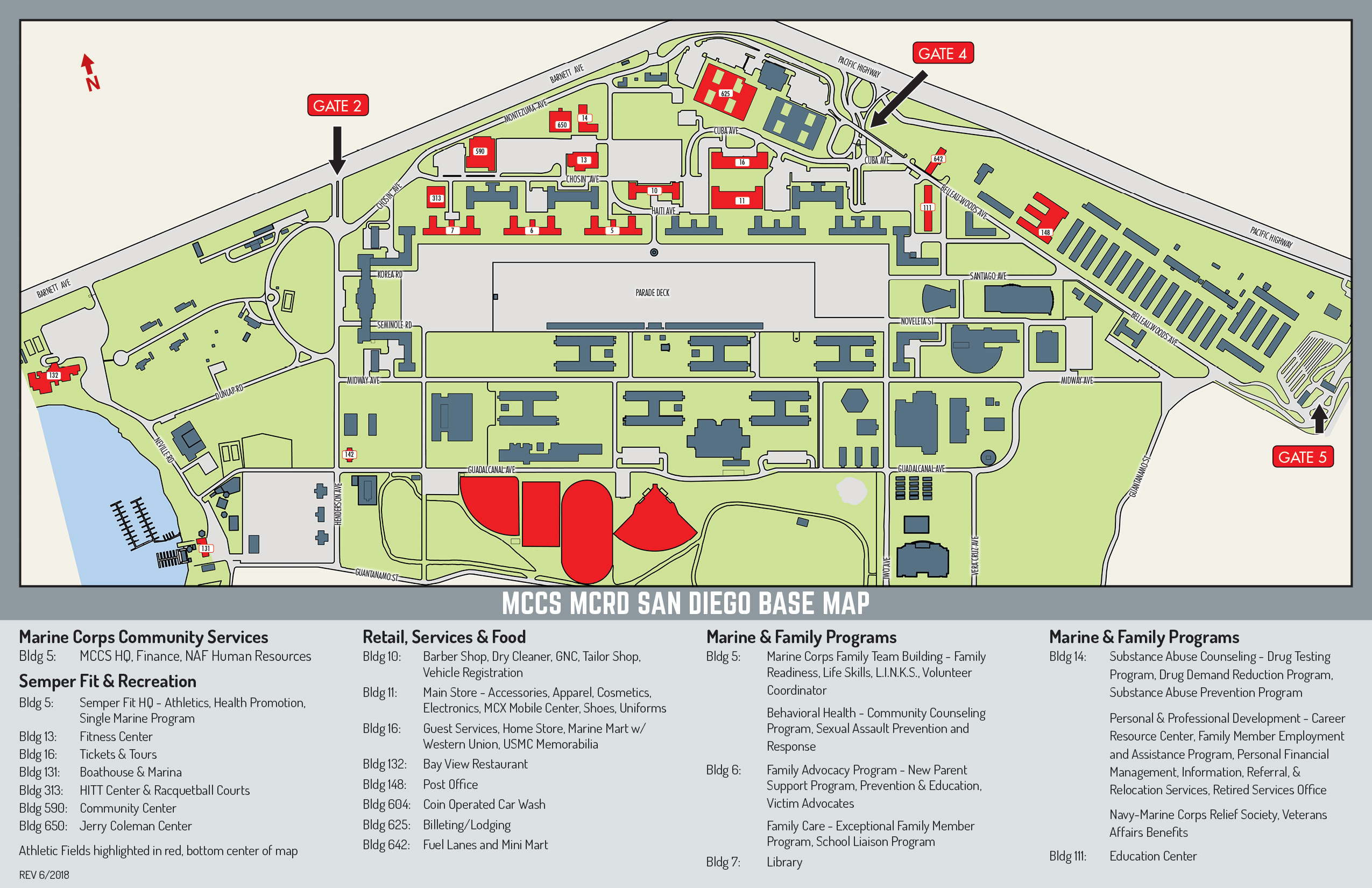 Mcrd Base Map Marine Corps Community Services Mcrd San Diego
