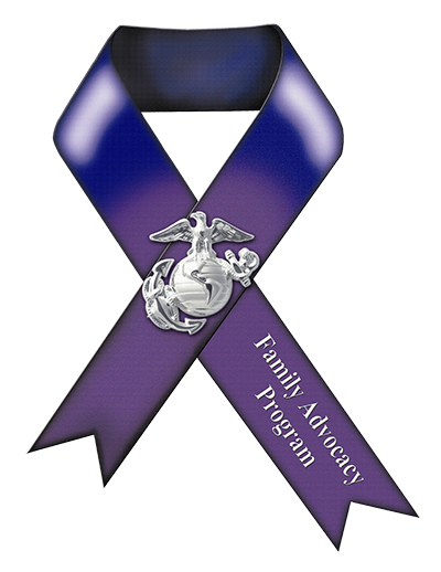 Family Advocacy Program - Purple ribbon logo
