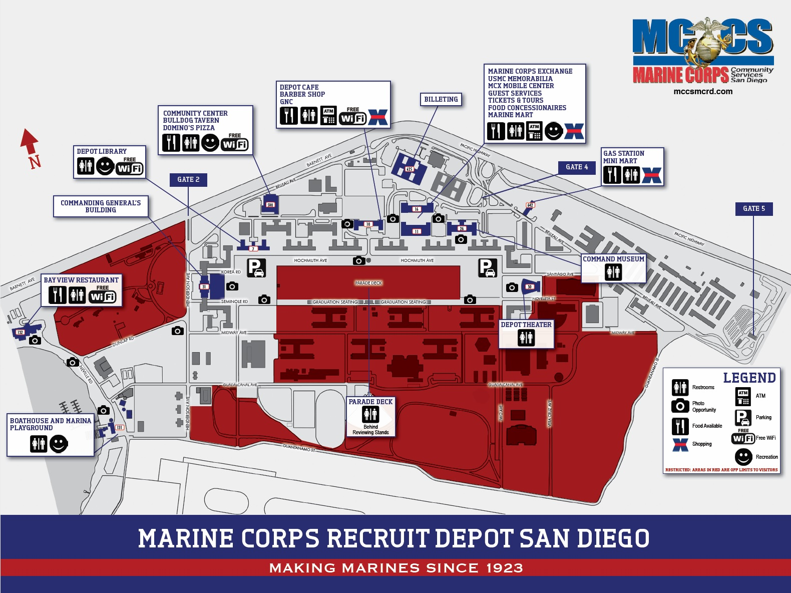 Mcrd San Diego Map Base Map   Marine Corps Community Services, MCRD San Diego